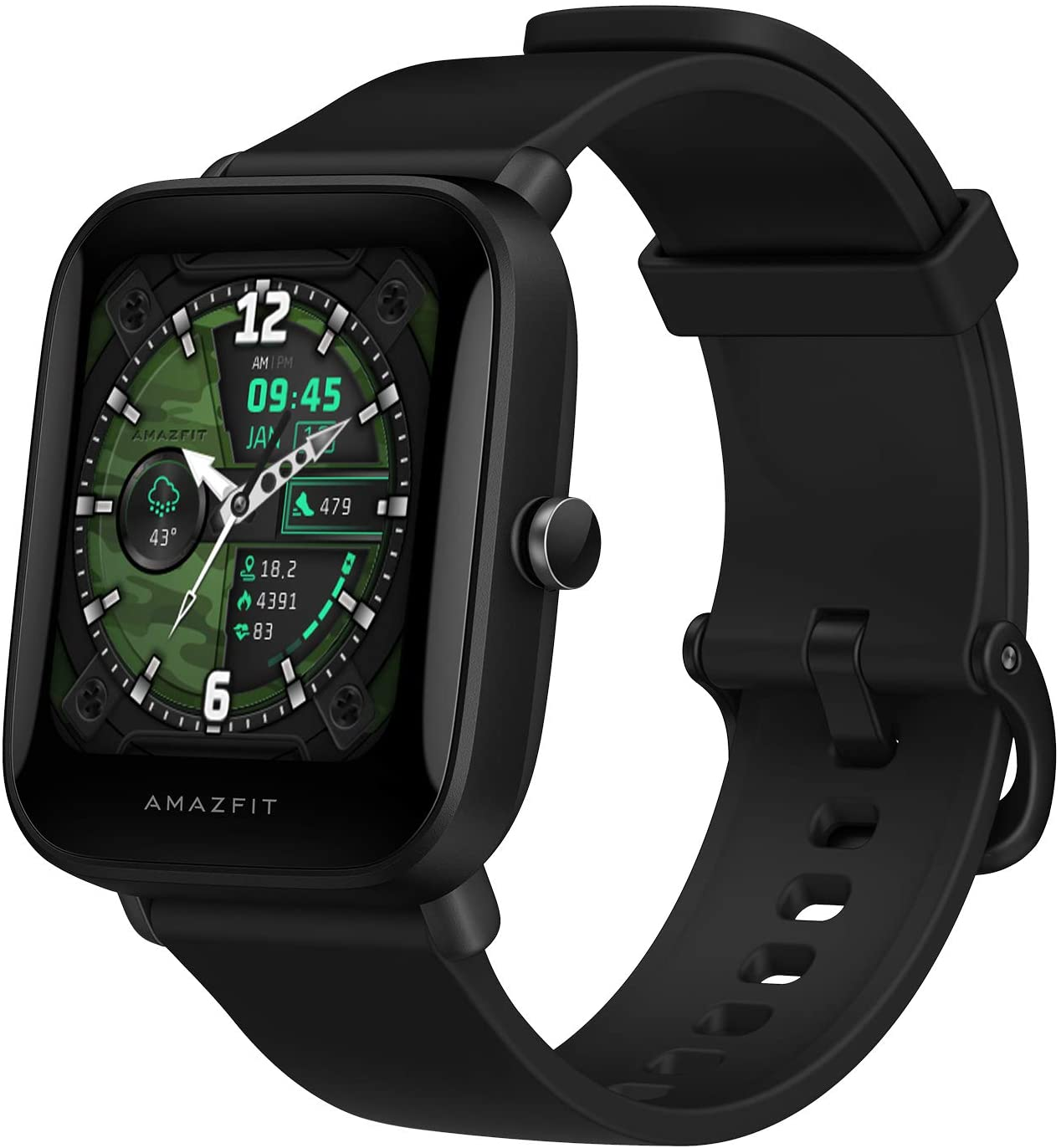 Xiaomi Amazfit POP GPS Smartwatch 1.43 inch 50 Watch Faces Color Screen 5 ATM 60+ Sports Mode Heart Rate Tracking