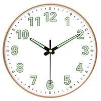night glow numbers quarz wall clock aesthetic modern design silent digital wall clock creative reloj pared home decor 50wc