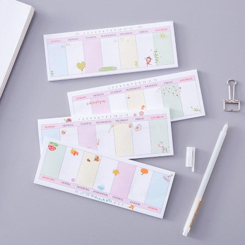 Jirafa Memo encantadoras pegatinas de Planificador de estudiante novedad dibujos animados N veces Sticker notas adhesivas Kawaii pegatinas de largo horario semanal