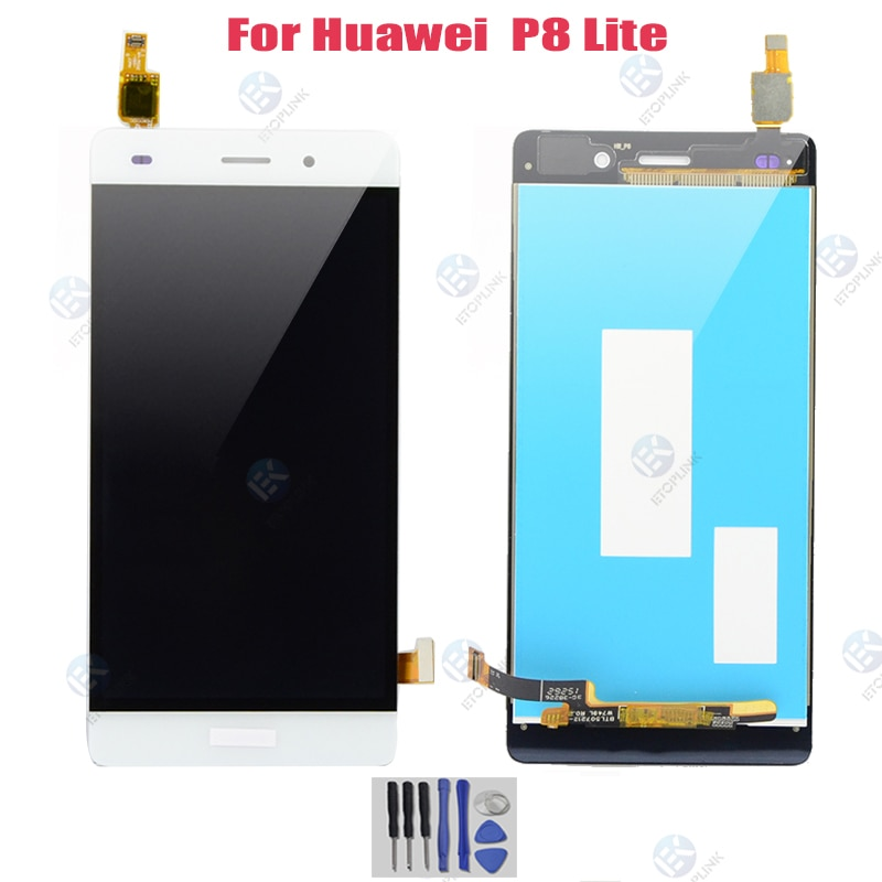 "5,0 ""para Huawei P8 Lite 2015 LCD marco de montaje de digitalizador de pantalla táctil para Huawei Ascend P8 Lite ALE-L21 piezas de repuesto"