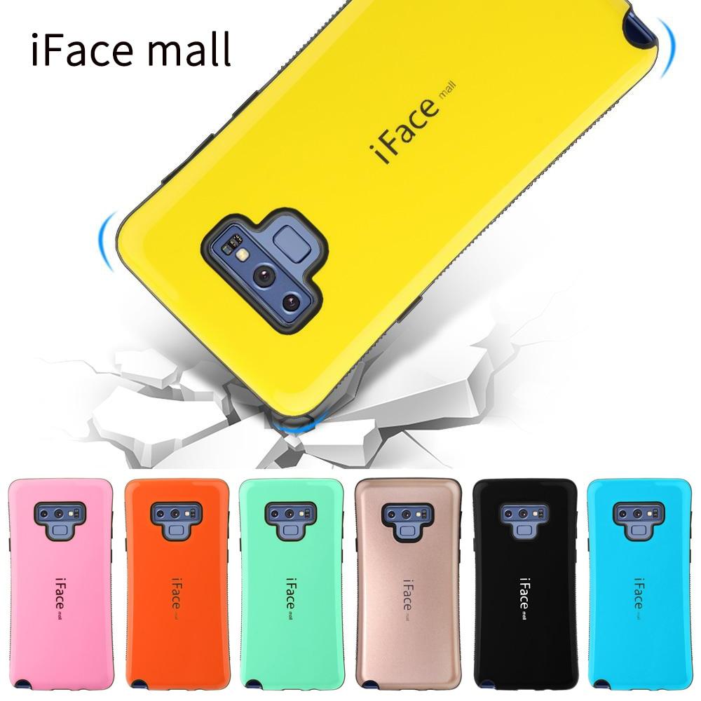 IFace Mall Bumper a prueba de golpes funda de teléfono para Samsung Note 8 9 10 Pro funda para Samsung S8 S9 S10 PLUS 5G Anti-caída funda trasera