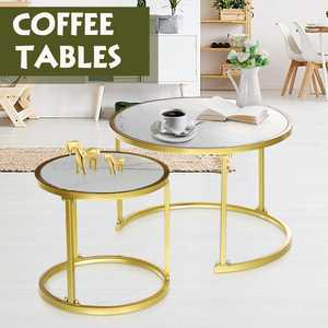 Tea End Table Magazine Shelf For Office Coffee Tables Wooden Round Marble Small Bedside Table Side Table Living Room Furniture