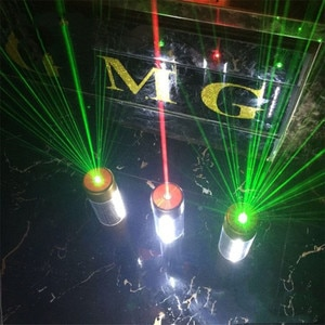 Thrisdar Glowing Flash Sticks Light With Green Red Laser Projector Light Baton Strobe For Party Supplies Festival Raves Birthday