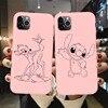 Rosa Molle Del Silicone Cassa Del Telefono Per Fundas iPhone 11 Pro Max Del Fumetto di Minnie punto Bambi Cover Per iPhone X XR XS Max 8 7 6S Plus