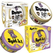 Dobble HP 16 Style Harried Spot It carte jeu jouet fer boîte Potter Sport aller Camping hanche enfants jeux de société cadeau animaux Alphabet123