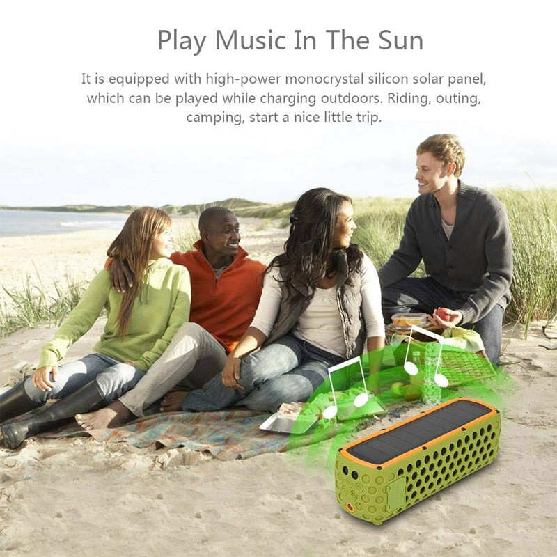 Outdoor Portable T60 Waterproof Solar Bluetooth Speaker LED Light Built-in Microphone Riding Subwoofer Personality Speaker enlarge