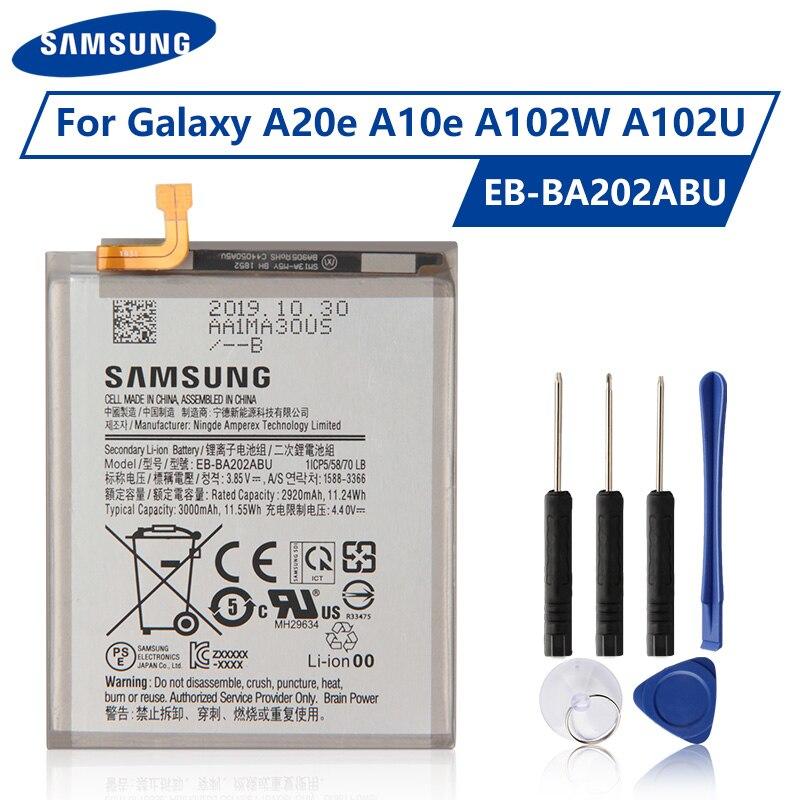 EB-BA202ABU de batería Original Samsung para Samsung Galaxy A20e A202F A10e A102W A102U batería genuina