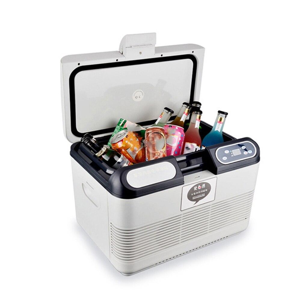 Портативный автомобильный холодильник, морозильная камера, сохраняет тепло и прохладу, двойное использование, 15 л, холодильник, быстрое охл...