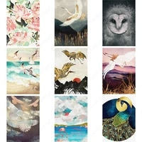abstract wall art posters bird beach landscape sea waves flower canvas painting modular print hd pictures living room decoration