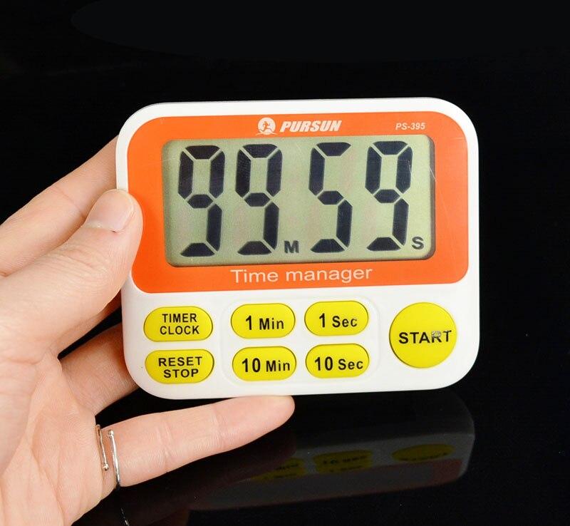 Contador de temporizador Digital LCD para cocina, contador de temporizador con función de Cuenta atrás y temporizador