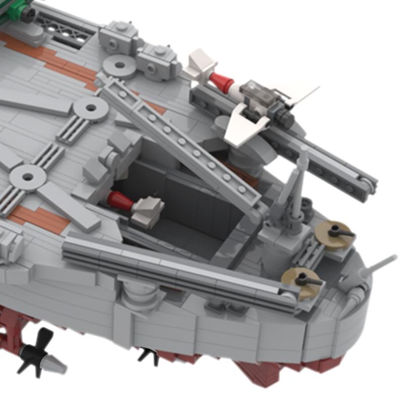 War2 Military Series WW2 German Bismarck Battles Cruiser Model Bricks World Warship Building Blocks Weapon Kids Toys Gift
