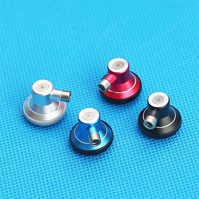 2 juegos de auriculares planos 15,4mm DIY MMCX Metal auriculares funda carcasa desmontable auriculares Gama Completa