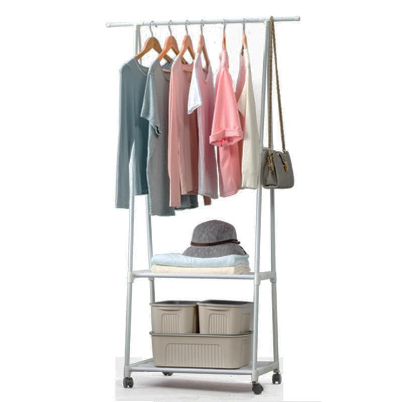 Estantería para colgar ropa de dormitorio extraíble con ruedas Perchero de pie Perchero de abrigo moderno multifunción percha de armario de abrigo triangular