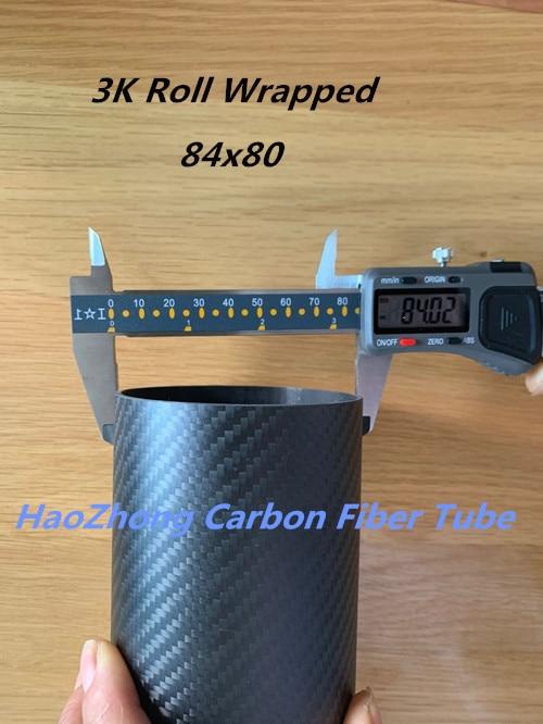 Tubo de fibra de carbono OD84 x ID80 mate 3k 1000MM de largo con 100% de carbono completo, (enrollado) Quadcopter Hexacopter modelo 84*80*1000
