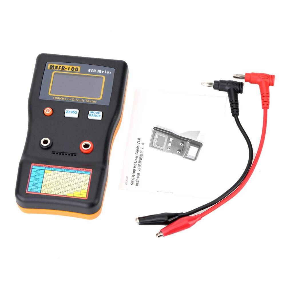 Medidor de Capacitância de Medição de Alta Profissional da Capacitância Esr do Verificador do Circuito do Capacitor da Resistência Precisão Mesr-100