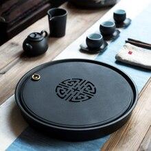 Plateaux à thé en céramique TANGPIN table à thé en porcelaine plateaux de service accessoires de thé kung fu chinois
