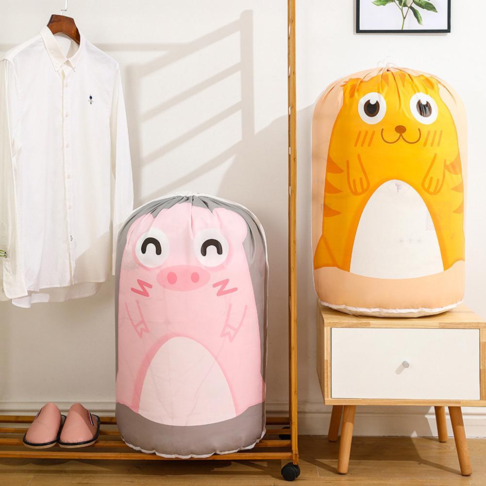 Bolsa de almacenamiento de ropa con cordón con estampado de ratón de tigre cilíndrico, bolsa de colcha, bolsa organizadora de equipaje