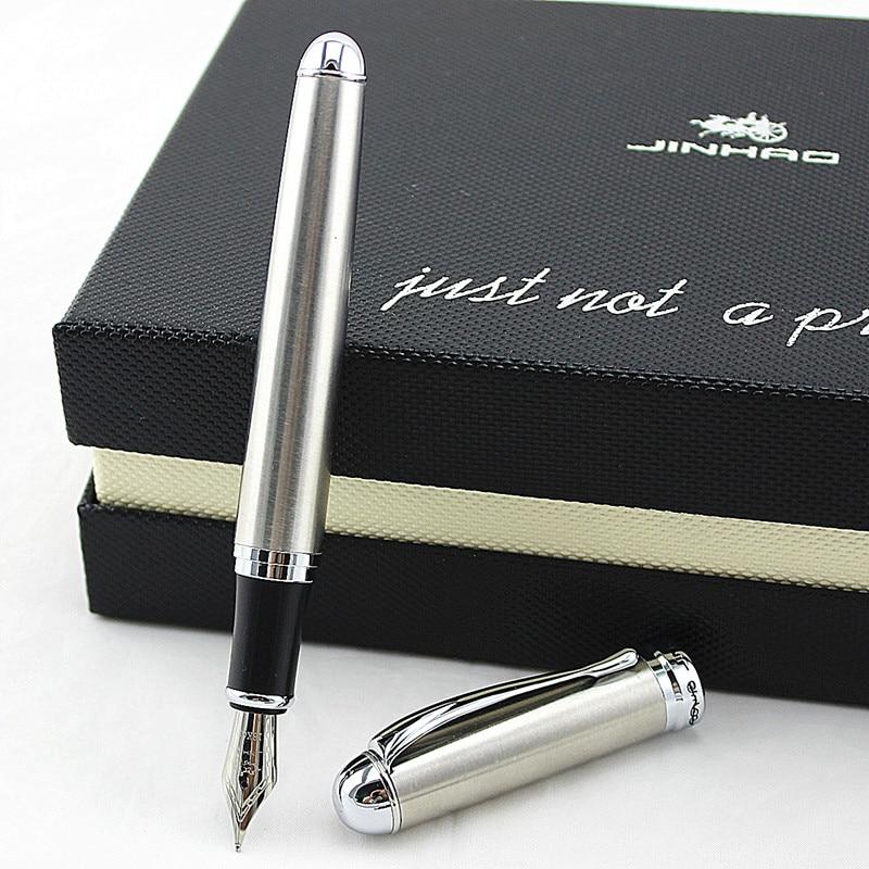 AliExpress - Jinhao X750 Stainless Steel Medium Silver 18KGP Nib Fountain Pen New