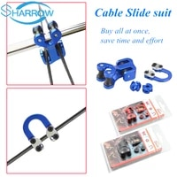 1set archery 18 316 peep sight d loop cable slide string separator protector compound bow archery shooting accessories
