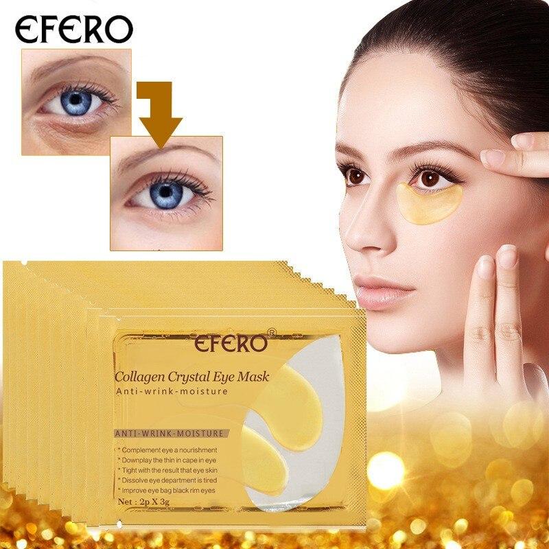 15 par/bolsa vidrio doble colágeno vidrio máscara de ojo parche antiarrugas hidratante ojo negro removedor cuidado de la piel Q1