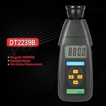 FUNN-DT2239B 디지털 lcd 비접촉 플래시 스트로보 스코프 타코미터 광전 회전 측정기 속도계 테스터 60-19999 rpm