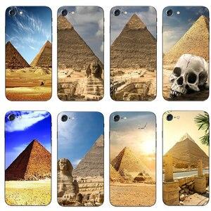 Egito pirâmides tpu macio silicone casos de telefone para iphone 6 6s mais 7 8 plus x xr xs 11 pro max 5 5S 5c se 4 4S capa coque funda