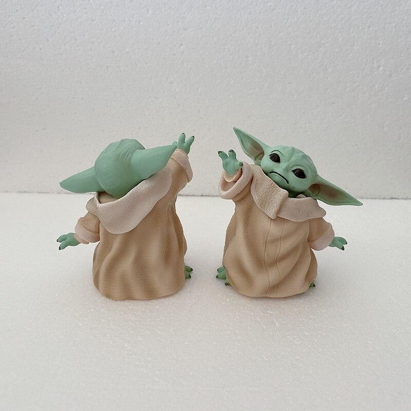 Yoda Baby Figure Star Wars Action Figure Qposket Anime Figurine Star Wars Master Yoda Figure Toys Doll Gifts 8cm