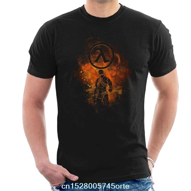 Printed camiseta Half Life Gordon Freeman Silhouette Men's T-Shirt 100% cotton women tee shirt