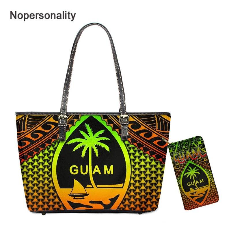 Bolsa e Bolsa para Mulher Folha de Banana Bolsa de Ombro Nopersonality Guam Turtle Plumeria Impresso Vintage Feminino Senhoras Tote Sac
