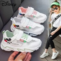 disney childrens hollow mickey mouse solid bottom boys and girls student shoes summer flying daddy shoes