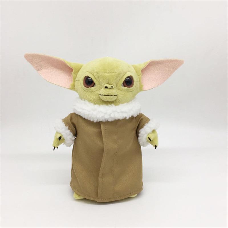 New Plush Toy Stuffed Soft Toy Baby Yoda Cartoon Peluche Cute Toys Doll Birthday Gift For Kids 25cm