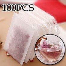 Sachets de thé vides avec cordon   100 pièces par lot, papier filtre scellé pour le thé en vrac aux herbes
