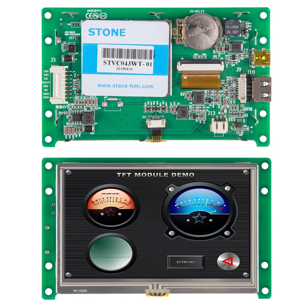 4.3 Inch STONE Touch LCD TFT Monitor/Display RS232 With  LCD Touch Panel lcd panel lcd monitor for boif bts 802 902