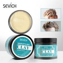 Sevich 80g coiffure forte tenue cheveux argile boue pour mat fini moulage crème longue durée stéréotype cheveux cire