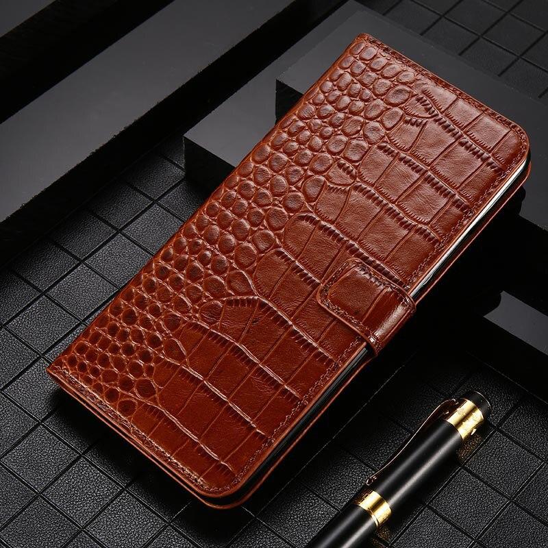 Skórzane etui na telefony z klapką Case do Nokia 1.3 2.1 2.2 2.3 3 3.1 3.2 4.2 5 5.1 6 6.2 7 7.1 7.2 8 8.1 Plus 8.3 9 Case krokodyl portfel torba