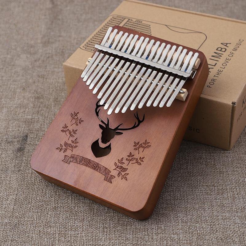 Kalimba Thumb Piano 17 Key Musical Instruments Kalimba Piano Mahogany Wooden Music Equipment WIth Accessory enlarge