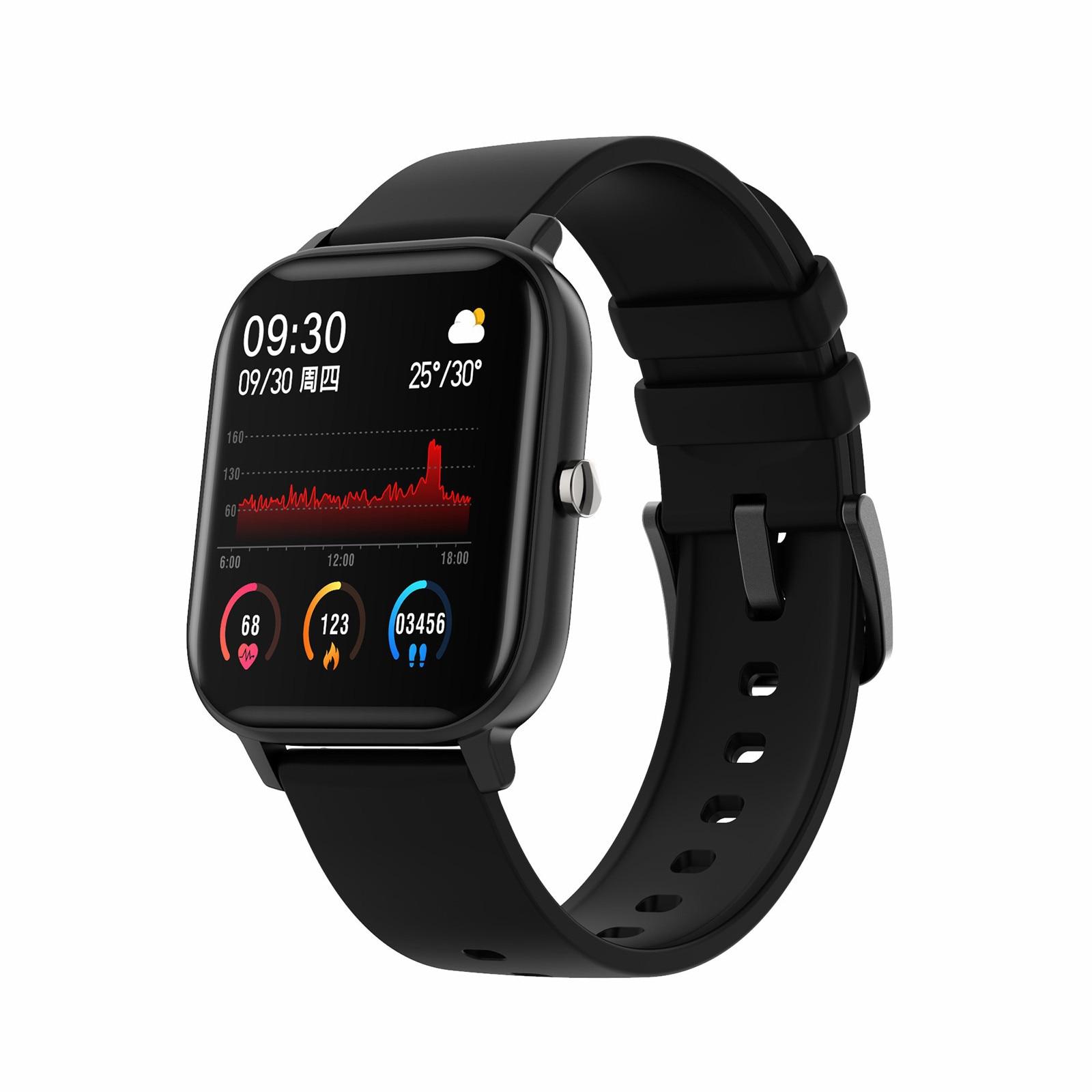P9 الرياضة ساعة ذكية معدنية حالة الرجال امرأة كاملة Smartwatch IP67 مقاوم للماء رصد معدل ضربات القلب النوم للهاتف iOS أندرويد