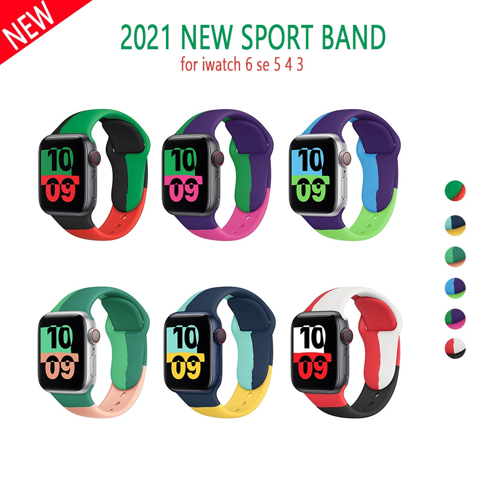 strap for apple watch 4 band 44mm 40mm iwatch 4 bands 40 mm 38mm sport silicone bracelet watchband for apple watch 5 3 2 1 42mm Silicone Strap For Apple Watch band 44mm 42mm 40mm 38mm Sport watchband bracelet iWatch for apple watch series 6 SE 5 4 3 2 se