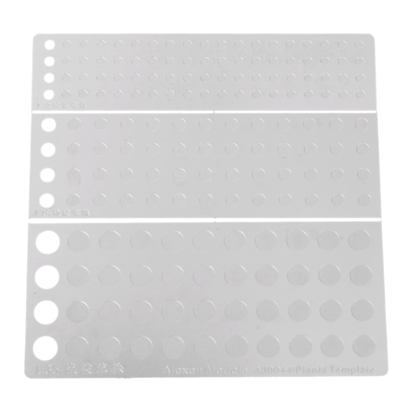 1:72/1:48/1:35 Scale Static Grass Planting Template Tool  for Flock Applicator
