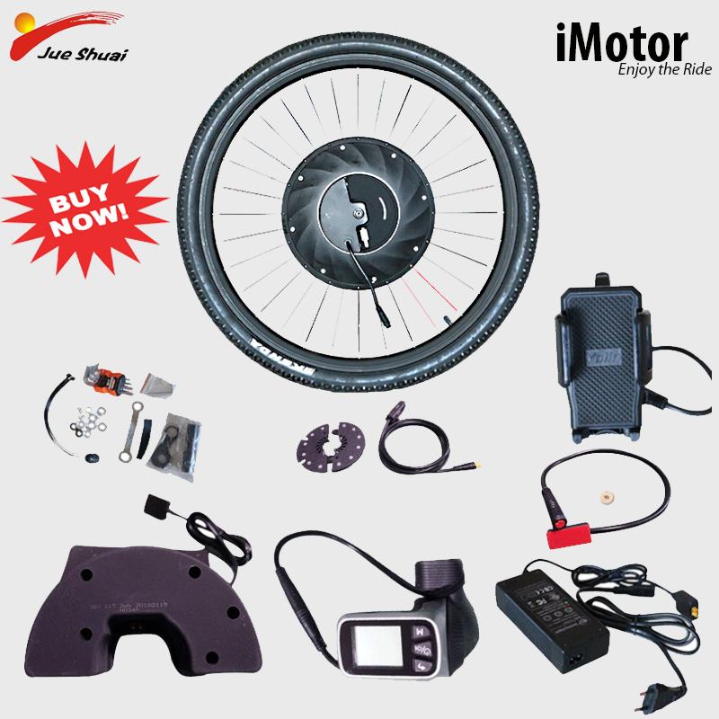 E, Bicicleta eléctrica de conversión Kit de Bicicleta de Motor sin escobillas...