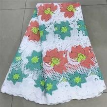 Tissu dentelle suisse dentelle verte   tissu brode coton africain, dubaï, tissus dentelle nigérians, 5 mètres/lot
