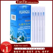 100pcs/box with tube acupuncture Needle disposable Needle acupuncture Beauty Massage Needle health c