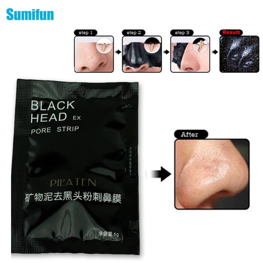 2 tiras de parche de cara negra para eliminar puntos negros poros removedor de cabeza negra máscara de piel de acné puntos negros de limpieza de yeso médico