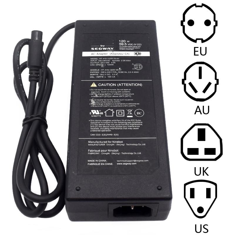 Para Ninebot Segway HT-A10-120W-59.5V Transporter AC Adapter fuente de alimentación-usado