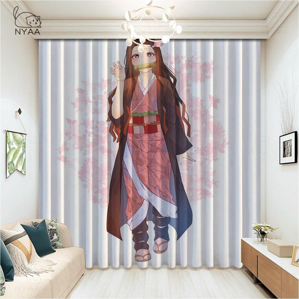 ستائر Kimetsu No Yaiba ، رسوم متحركة ، للحمام ، المنزل ، النافذة ، جدار الفصل ، الصالون ، التظليل الصغير