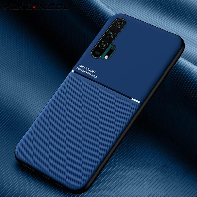 Textura de fondo de cuero funda cubierta de Mate para Huawei P30 P20 Honor V30 Pro Nova 6 SE 5i 5 5T amigo 20 30 Lite Y9 primer P Smart Z Plus 2019