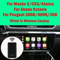 for mazda 3cx5atanza for skoda octavia for peugeot 30084008308 car wired to wireless carplay dongle ios decoder adapter