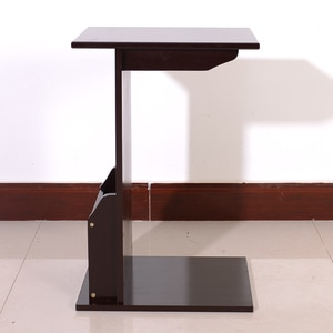 40x30x61cm L-shaped Bamboo Sofa Side Table Coffee Wooden Coffee Tea Table Z-shaped Side Table