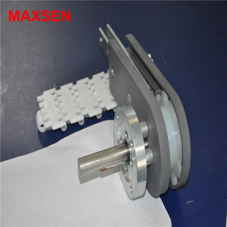 عالية الجودة الألومنيوم محرك رئيس ونهاية ل 43 63 83 140 175 عرض سلسلة من البلاستيك سلسلة ناقلة مرنة