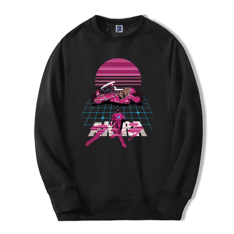 Akira Synthwave Japanese Anime Sweatshirt 2019 Spring Winter Casual Mens Hoodies Tracksuit Hip Hop Style Fitness Fashion Hoodie